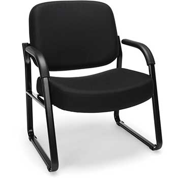 OFM™ Core Collection Big and Tall Guest and Reception Chair with Arms, Black