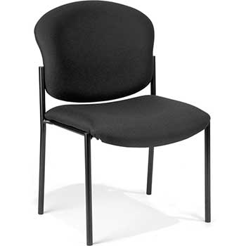 OFM™ 408-805 Armless Stack Chair, Black