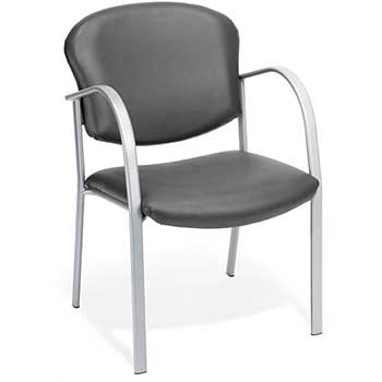 414-VAM-604 Contract Guest Vinyl Chair, Charcoal