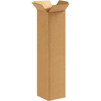 """W.B. Mason Co. Corrugated boxes, 4"""" x 4"""" x 16"""", Kraft, 25/BD"""