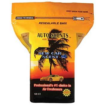 W.B. Mason Auto Supplies Air Freshener Pads, New Car, 60/BG