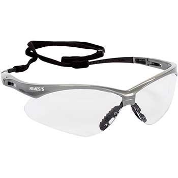 KleenGuard™ V30 Nemesis Safety Glasses, Clear Anti-Fog Lens with Silver Frame