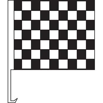Standard Clip-On Flag, Black/White Check