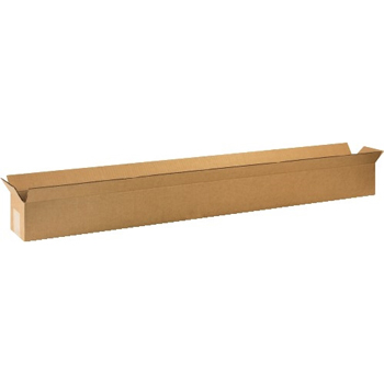 """Long Corrugated boxes, 48"""" x 4"""" x 4"""", Kraft, 25/BD"""