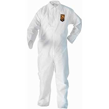KleenGuard™ A20 Breathable Particle-Pro Coveralls, Zip, 2XL, White, 24/CT