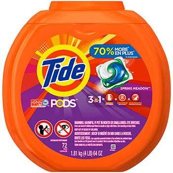 PODS™ Liquid Detergent Pacs, Spring Meadow™, 72 Count/PK