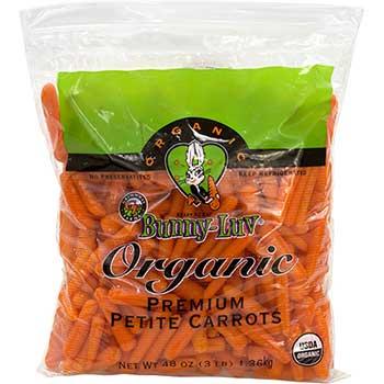Fresh Organic Petite Baby Carrots, 3 lbs.