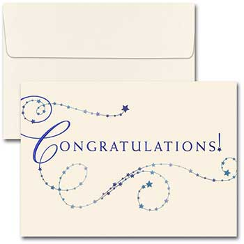 JAM Paper Blank Congratulations Card Sets, Congratulations, 25/PK
