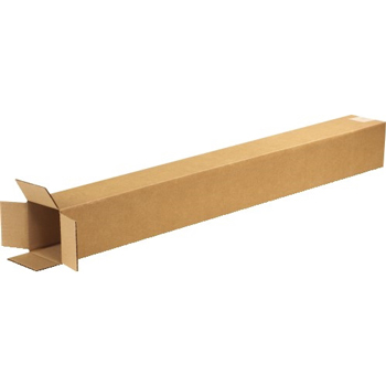 "W.B. Mason Co. Tall Corrugated boxes, 5"" x 5"" x 48"", Kraft, 25/BD"