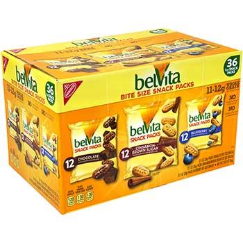 Nabisco® belVita Breakfast Biscuits, Bite Size Snack Packs Variety, 1 oz., 36/PK