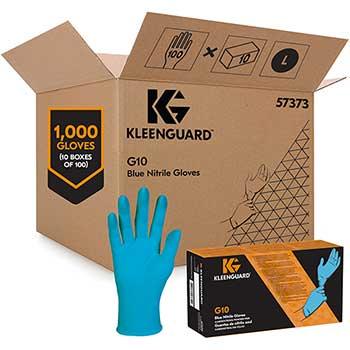 KleenGuard™ G10 Blue Nitrile Gloves, Powder-Free, Blue, Large, 100/Box, 10 Boxes/Carton