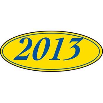 Auto Supplies Window Sticker, 2013, Oval, Blue/Yellow, 12/PK