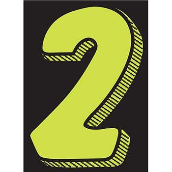 "W.B. Mason Auto Supplies Window Sticker, 7 1/2"", Fluor. Green/Black, Form #2, 12/PK"