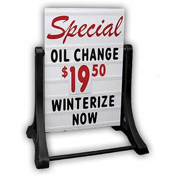 W.B. Mason Auto Supplies Deluxe Swinger Sidewalk Sign Kit, 2 Sided, 1 KT/BX