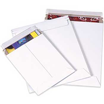 "W.B. Mason Co. StayFlat Mailer, 11"" x 13 1/4"", White, 100/CT"