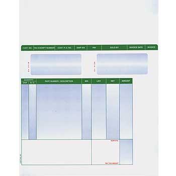 Auto Supplies Laser Part Invoices, LZR-PT-INV, 250/PK