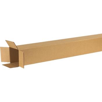 "Tall Corrugated boxes, 6"" x 6"" x 60"", Kraft, 25/BD"