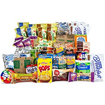 Rise & Shine Breakfast Variety Box - Oatmeal, Granola Bars, Cereal, Nuts & More, 70/BX