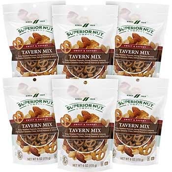 Superior Nut Company™ Sweet & Savory Tavern Mix, 10 oz., 5/PK