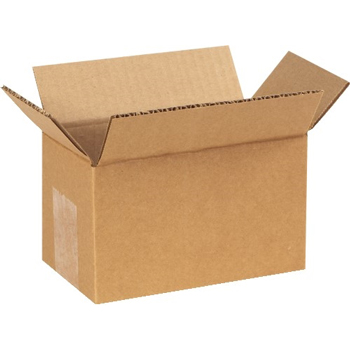 "Corrugated boxes, 6"" x 3"" x 3"", Kraft, 25/BD"