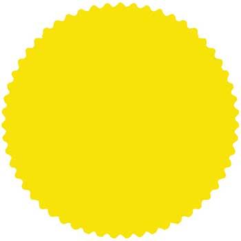 W.B. Mason Auto Supplies CSI Labels, Fluorescent Yellow, 500/PK
