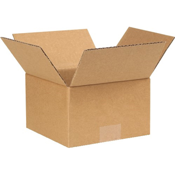 "Corrugated boxes, 7"" x 7"" x 4"", Kraft, 25/BD"