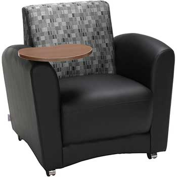 OFM™ InterPlay Series Single Seat Chair with Bronze Tablet, Black/Nickel