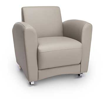 OFM™ InterPlay Series Upholstered Guest/Reception Chair, Taupe