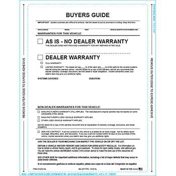 W.B. Mason Auto Supplies Buyers Guide, BG-2017-PA, AI-E-NL, As Is, P/A, No Lines, 100/PK