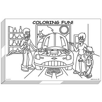 W.B. Mason Auto Supplies Coloring Pad, 50 Sheets Per Pad