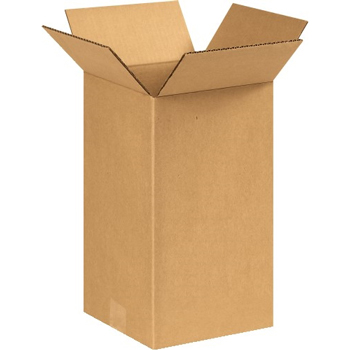 "W.B. Mason Co. Tall Corrugated boxes, 8"" x 8"" x 14"", Kraft, 25/BD"