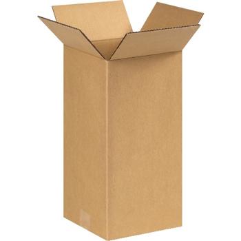 "W.B. Mason Co. Tall Corrugated boxes, 6"" x 6"" x 14"", Kraft, 25/BD"