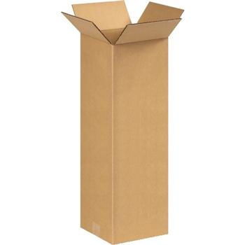 "Tall Corrugated boxes, 8"" x 8"" x 24"", Kraft, 25/BD"