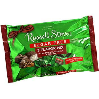Russell Stover® Sugar-Free 3-Flavor Mix Pecan Delights, Coconut and Caramel, 10 oz., 2/PK