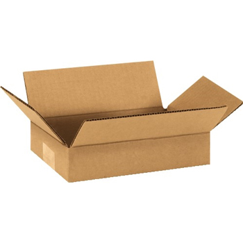 "W.B. Mason Co. Corrugated boxes, 9"" x 6"" x 2"", Kraft, 25/BD"