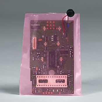 "W.B. Mason Co. Anti-Static Flat 4 Mil Poly Bags, 8"" x 16"", Pink, 1000/CS"