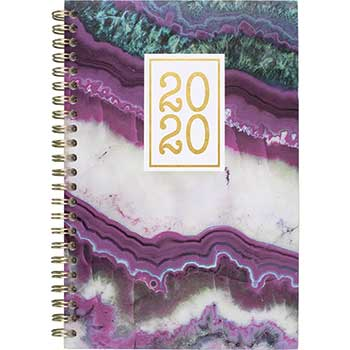 Cambridge® Agate Weekly/Monthly Planners, 4 7/8 x 8, Purple, 2020