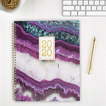 Agate Weekly/Monthly Planners, 8 1/2 x 11, Purple, 2020