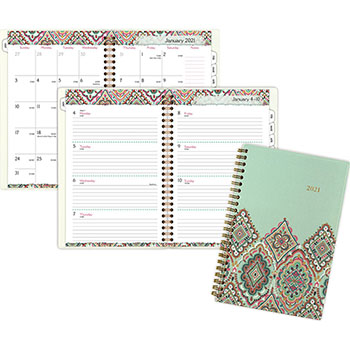 "AT-A-GLANCE® Marrakesh Desk Weekly/Monthly Planner, 5 3/4"" x 8 1/8"", 2021"