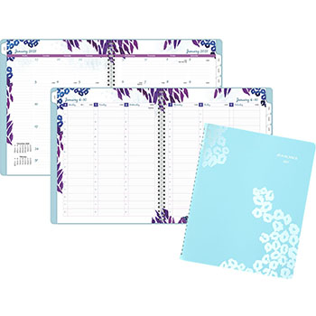 """AT-A-GLANCE® Wild Washes Weekly/Monthly Planner, 8 1/2"""" x 11"""", Floral, Animal, 2022"""