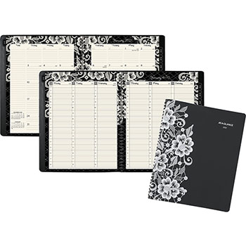 """AT-A-GLANCE® Lacey Professional Weekly/Monthly Appointment Book, 9 1/4"""" x 11 3/8"""", 2021"""
