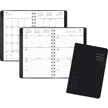 "AT-A-GLANCE® Contemporary Weekly/Monthly Planner, Block, 4 7/8"" x 8"", Black Cover, 2021"