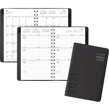 """AT-A-GLANCE® Contemporary Weekly/Monthly Planner, Block, 4 7/8"""" x 8"""", Graphite Cover, 2022"""