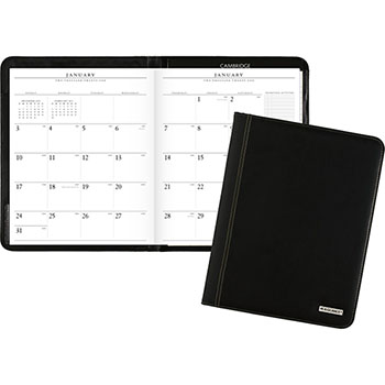 """AT-A-GLANCE® Executive Monthly Padfolio, 9"""" x 11"""", White, 2022"""