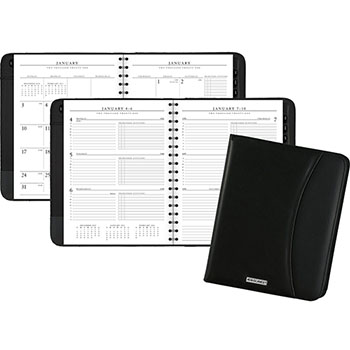 "AT-A-GLANCE® Executive Weekly/Monthly Appointment Book, 6 7/8"" x 8 3/4"", White, 2021"