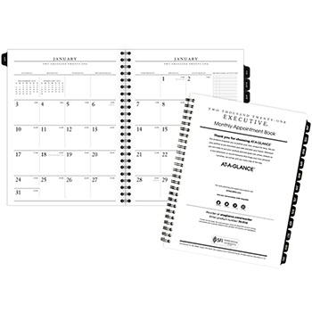 "AT-A-GLANCE® Executive® Monthly Planner Refill, 6 5/8"" x 8 3/4"", White, 2021"
