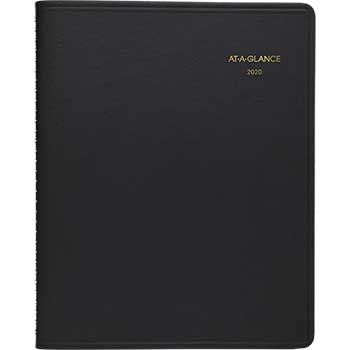 AT-A-GLANCE® Triple View Weekly/Monthly Appointment Book, 8 1/2 x 11, Black, 2020