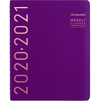 AT-A-GLANCE® Contemporary Academic Planner, 8 1/4 x 10 7/8 Purple, 2020-2021