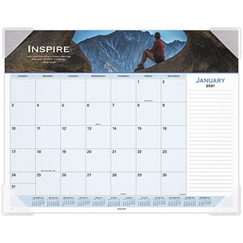 """AT-A-GLANCE® Motivational Panoramic Desk Pad, 22"""" x 17"""", Motivational, 2021"""