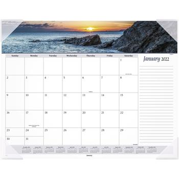 """AT-A-GLANCE® Seascape Panoramic Desk Pad, 22"""" x 17"""", 2022"""